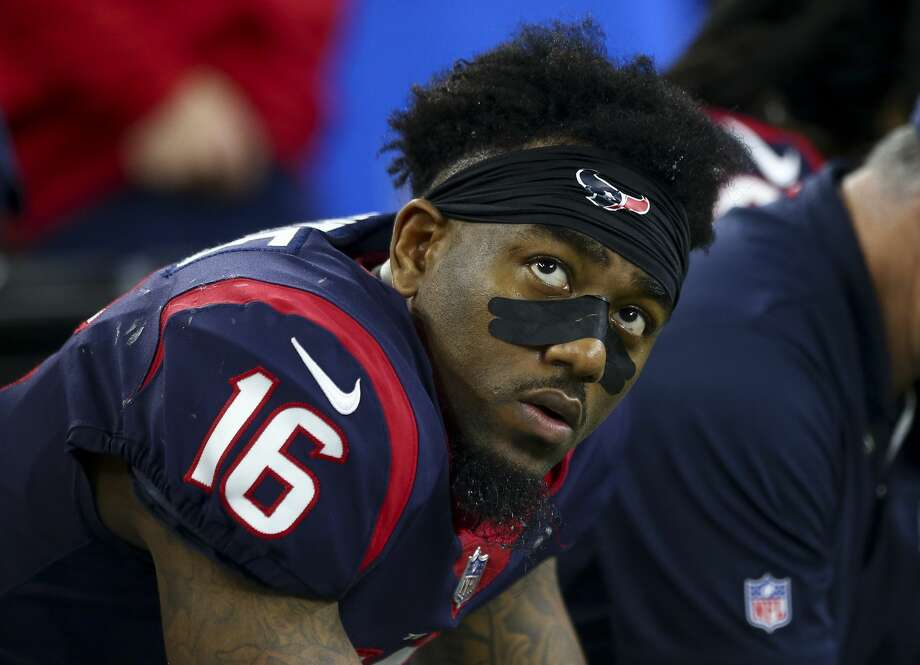 PHOTOS: Contract situations for each Texans player during the 2019 offseason  Houston Texans wide receiver Keke Coutee (16) sits on the sidelines after the offense turn the ball over on downs against the Indianapolis Colts during the fourth quarter of an NFL first round playoff game between the Houston Texans and the Indianapolis Colts at NRG Stadium Saturday, Jan. 5, 2019, in Houston. The Colts won 21-7. >>>Browse through the gallery for a look at contract situations for each Texans player ...  Photo: Godofredo A. Vasquez/Staff Photographer