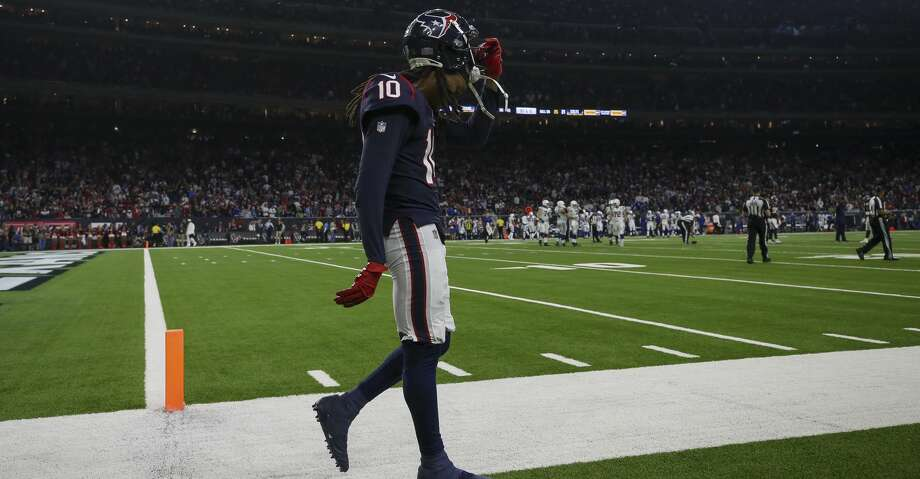 PHOTOS: Texans vs. Colts Houston Texans wide receiver DeAndre Hopkins (10) walks off the field after a turnover on downs against the Indianapolis Colts during the fourth quarter of an NFL first round playoff game between the Houston Texans and the Indianapolis Colts at NRG Stadium Saturday, Jan. 5, 2019, in Houston. The Colts won 21-7. Browse through the photos to see action from the Texans' playoff loss to the Colts on Saturday. Photo: Godofredo A. Vasquez/Staff Photographer