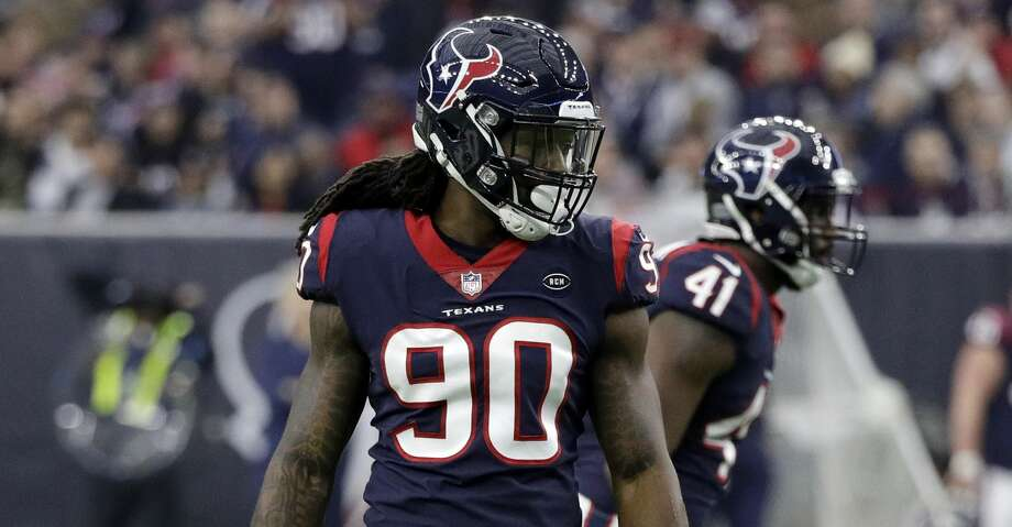 Houston Texans outside linebacker Jadeveon Clowney (90) during the first half of an NFL football game against the Jacksonville Jaguars, Sunday, Dec. 30, 2018, in Houston. (AP Photo/David J. Phillip) Photo: David J. Phillip/Associated Press