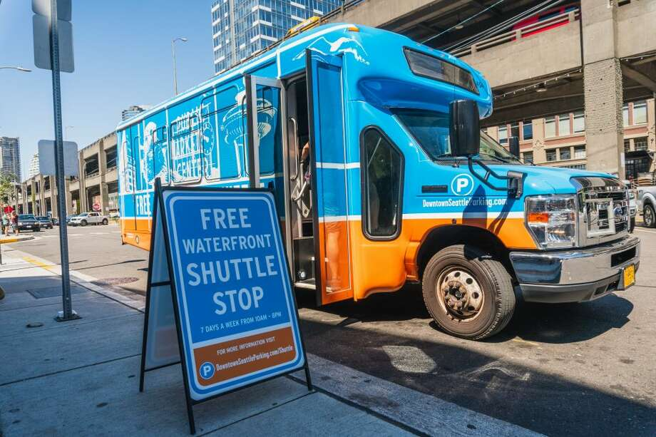 "The Seattle Waterfront Shuttle will be extending its hours along the north-south route for the ""Seattle Squeeze."" Photo: Courtesy Of Waterfront Shuttle"