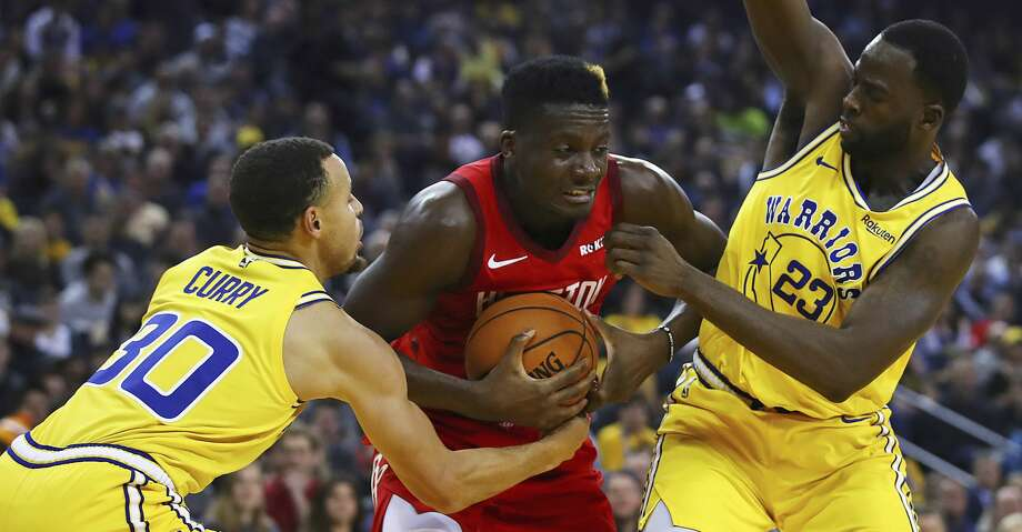 PHOTOS: Rockets game-by-game Houston Rockets' Clint Capela, center, keeps the ball from Golden State Warriors' Stephen Curry, left, and Draymond Green (23) during the first half of an NBA basketball game Thursday, Jan. 3, 2019, in Oakland, Calif. (AP Photo/Ben Margot) Browse through the photos to see how the Rockets have fared in each game this season. Photo: Ben Margot/Associated Press