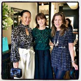 Dr. Carolyn Chang (left) with her fellow CPMC gala hosts Allison Speer and CPMC board chairman Sloan Barnett at a Tiffany hosted Octavia lunch. Dec. 2018.