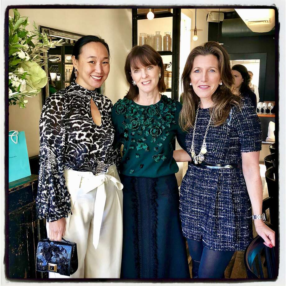 Dr. Carolyn Chang (from left) with her fellow CPMC gala hosts Allison Speer and CPMC board chairman Sloan Barnett at a Tiffany-hosted Octavia lunch. December 2018. Photo: Catherine Bigelow / Special To The Chronicle 2018