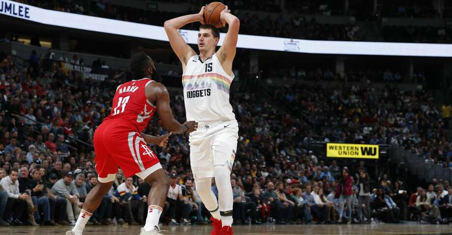 PHOTOS: Rockets game-by-game Houston Rockets guard James Harden (13) and Denver Nuggets center Nikola Jokic (15) in the second half of an NBA basketball game Tuesday, Nov. 13, 2018, in Denver. The Rockets won 109-99. (AP Photo/David Zalubowski) Browse through the photos to see how the Rockets have fared in each game this season. Photo: David Zalubowski/Associated Press