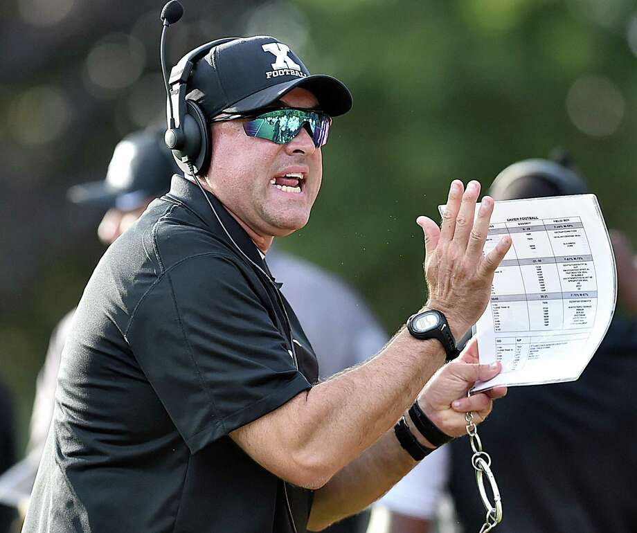 Xavier football coach Andy Guyon. Photo: Catherine Avalone / Hearst Connecticut Media File Photo / New Haven Register