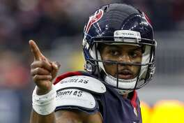 Though not at his best in the playoff loss to the Colts, Deshaun Watson can point with pride to a season in which he became the first quarterback in NFL history to throw for at least 4,000 yards (4,165) and 25 touchdowns (26) and rush for at least 500 yards (551) and five touchdowns (five).