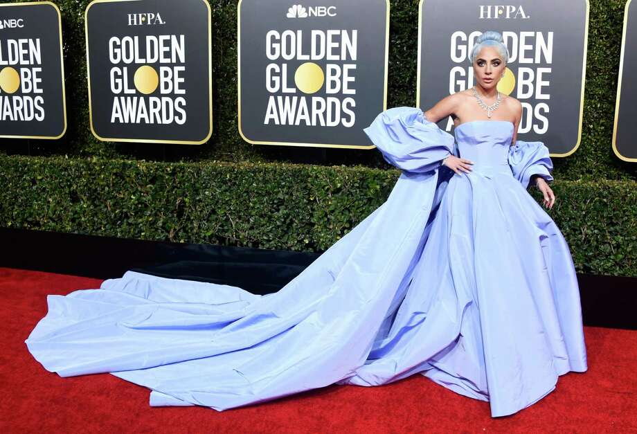 Lady Gaga wears Valentino at the 76th Annual Golden Globe Awards at The Beverly Hilton Hotel. Photo: Frazer Harrison, Staff / Getty Images / 2019 Getty Images
