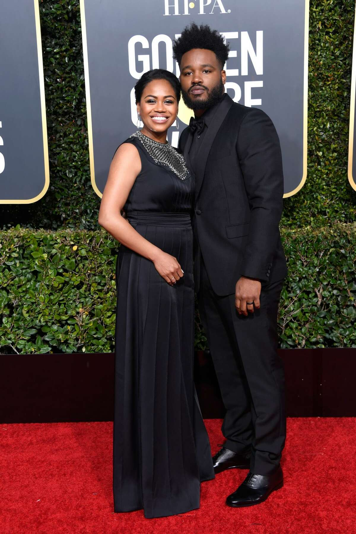 Zinzi Evans (L) and Ryan Coogler attend the 76th Annual Golden Globe Awards at The Beverly Hilton Hotel on January 6, 2019 in Beverly Hills, California.