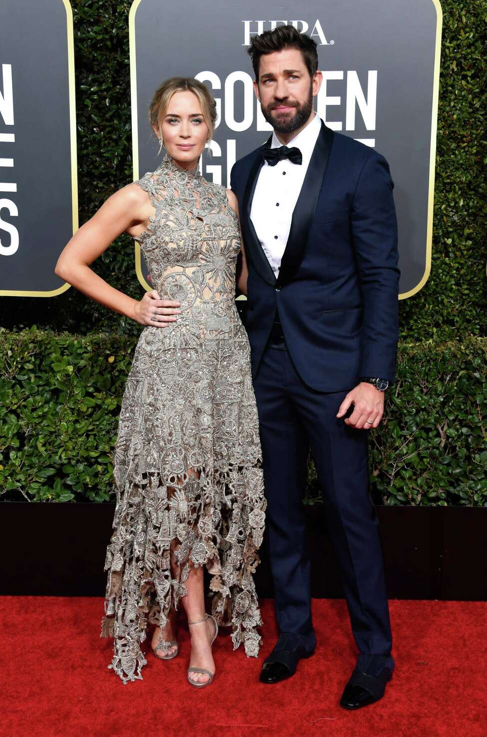 Emily Blunt and John Krasinski Actors Emily Blunt and John Krasinski stopped at the Clive Davis Theatre and Playhouse Cafe on the Old Post Road in Bedford, N.Y. Thanksgiving weekend.