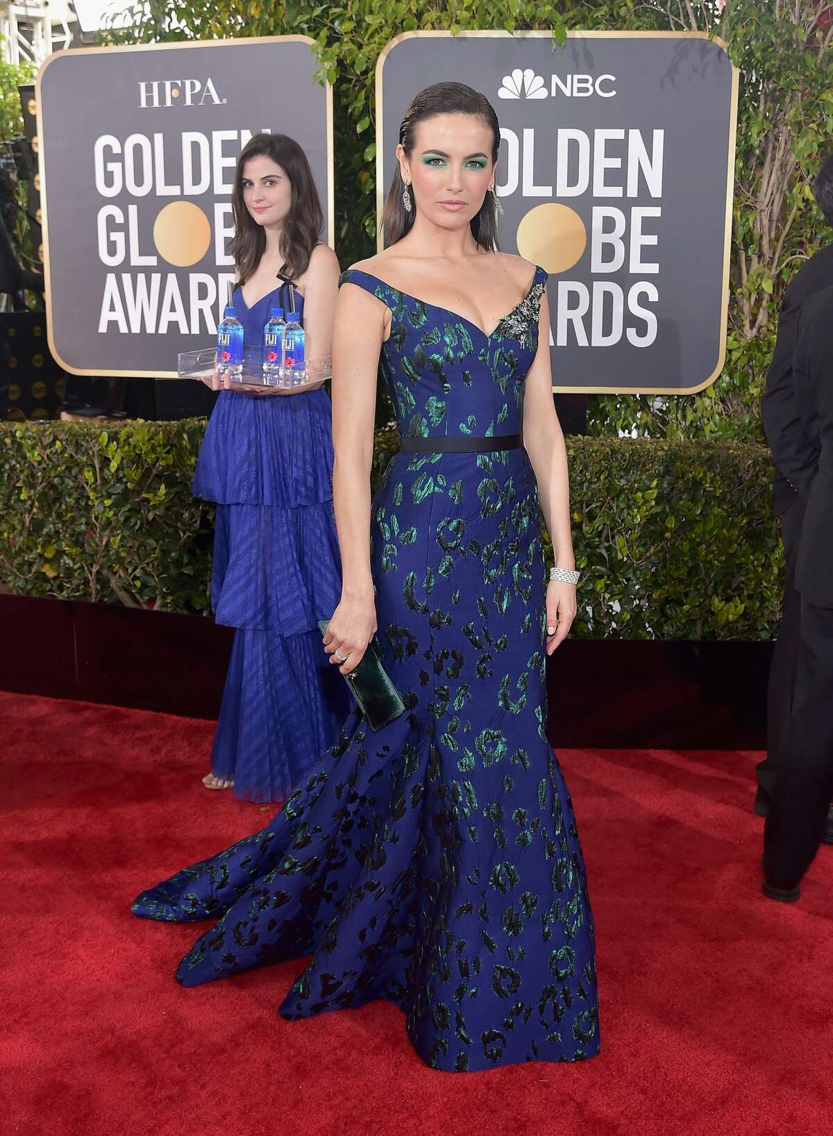 """Camilla Belle attends FIJI Water at the 76th Annual Golden Globe Awards on January 6, 2019 at the Beverly Hilton in Los Angeles.Model Kelleth Cuthbert was later identified as the so-called """"Fiji Water Girl."""" (Photo by Stefanie Keenan/Getty Images for FIJI Water)"""