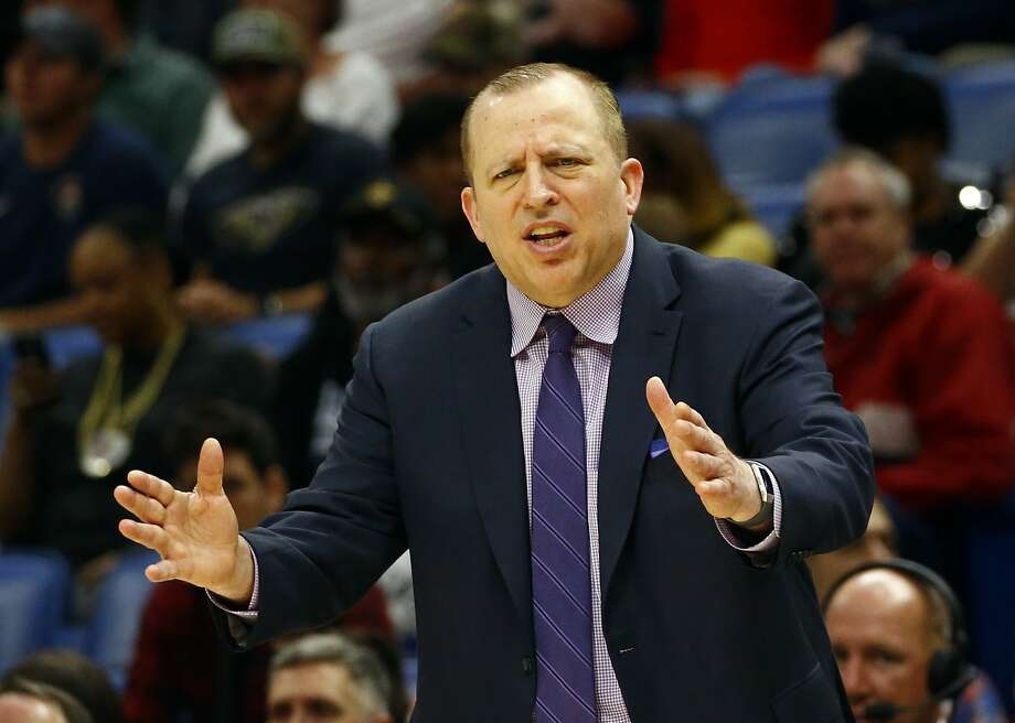 Tom Thibodeau was fired after 2½ seasons as Minnesota's head coach. He also coached the Bulls for five seasons. Photo: Butch Dill / Associated Press 2018