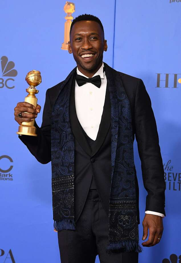 "Best Actor in a Supporting Role in any Motion Picture for ""The Green Book"" winner Mahershala Ali poses with the trophy during the 76th annual Golden Globe Awards on January 6, 2019, at the Beverly Hilton hotel in Beverly Hills, California. (Photo by Mark RALSTON / AFP)MARK RALSTON/AFP/Getty Images Photo: MARK RALSTON, AFP/Getty Images"
