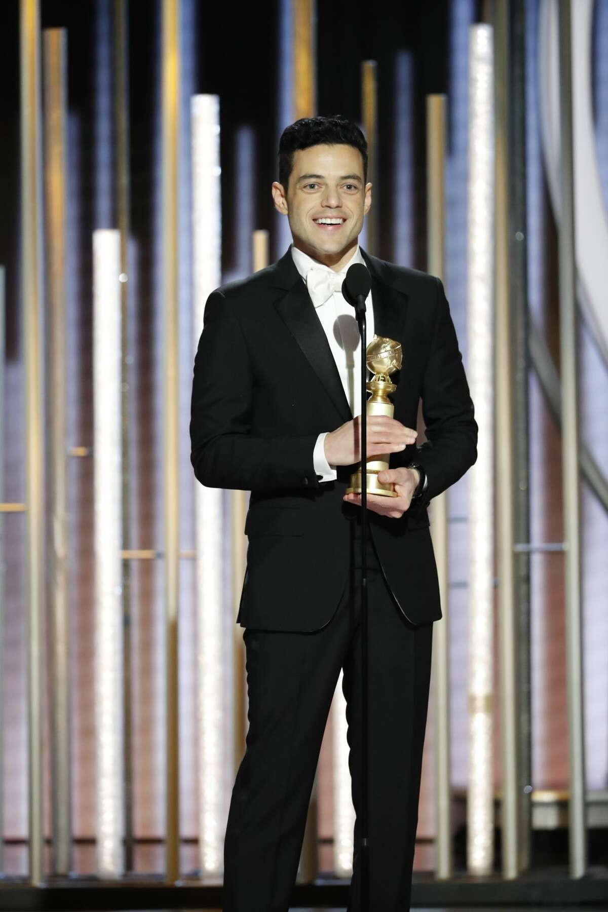 Rami Malek, winner of Best Actor - Motion Picture, Drama at the 76th Annual Golden Globe Awards held at the Beverly Hilton Hotel on January 6, 2019.