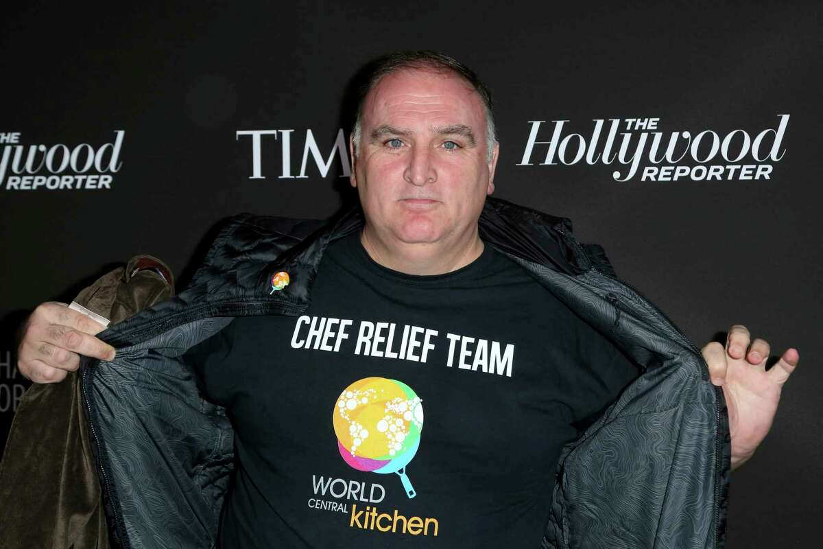 Chef Jose Andres arrives at the 2019 Sean Penn J/P HRO & Disaster Relief Organizations Gala at The Wiltern Theatre on Saturday, Jan. 5, 2019, in Los Angeles. (Photo by Willy Sanjuan/Invision/AP)