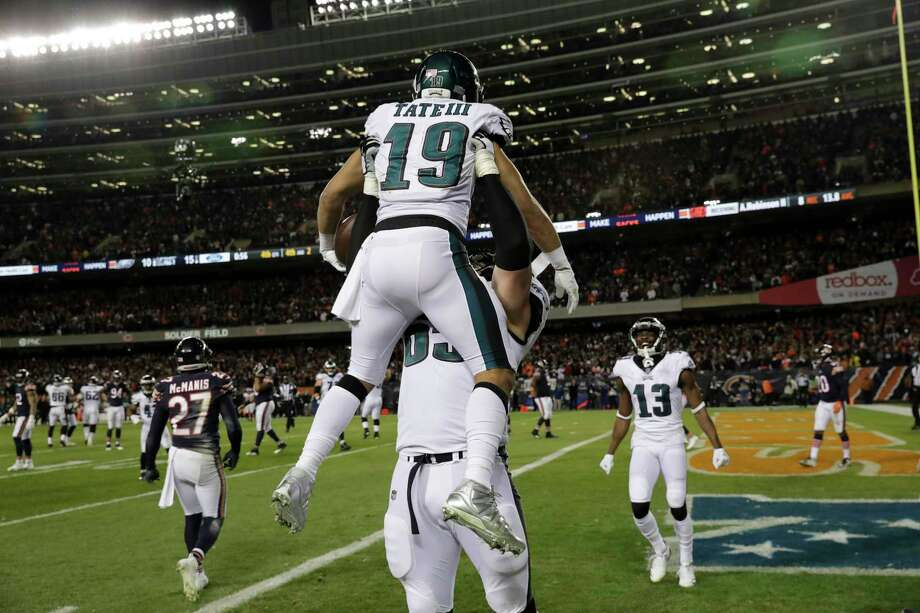 fdddac4d558 Philadelphia Eagles wide receiver Golden Tate (19) celebrates his touchdown  reception with offensive tackle