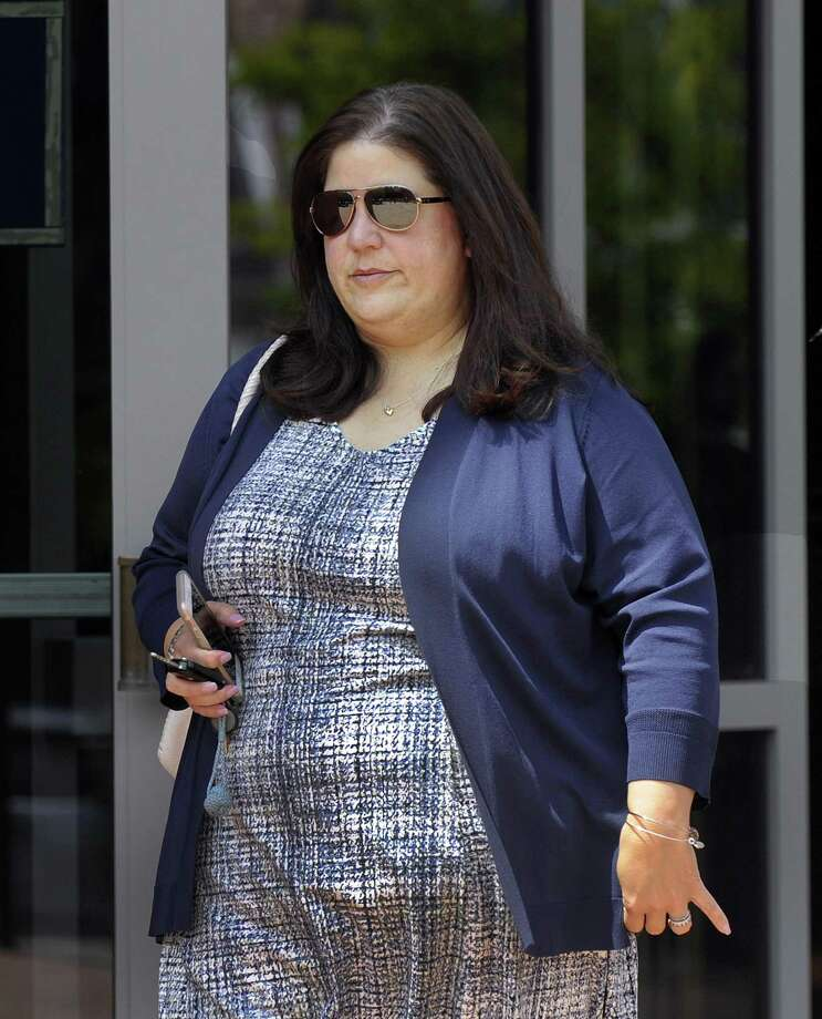 Former Redding Board of Education chairwoman Sara Sobel, who faces charges including abetting the sexual assault of a minor, leaves the state Superior Court in Danbury, Tuesday, June 5, 2018. Photo: Carol Kaliff / Hearst Connecticut Media / The News-Times