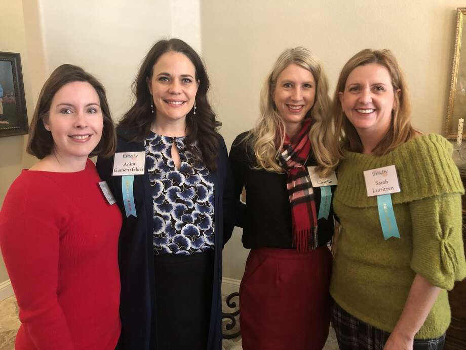 Junior League: Leah Robertson, from left, Anita Gamertsfelder, Cari Chaplin and Sarah Lauritzen Photo: Courtesy Photo