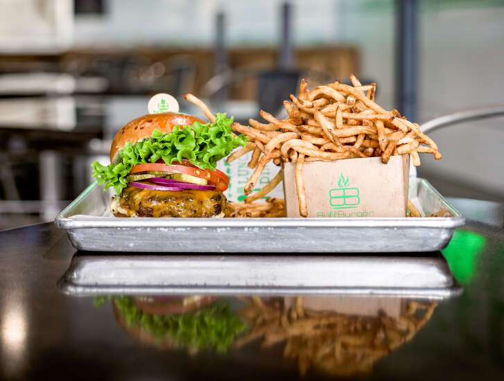 Classic burger and fries at BuffBurger, which is opening its third location at 10550 Westheimer on Jan. 7.