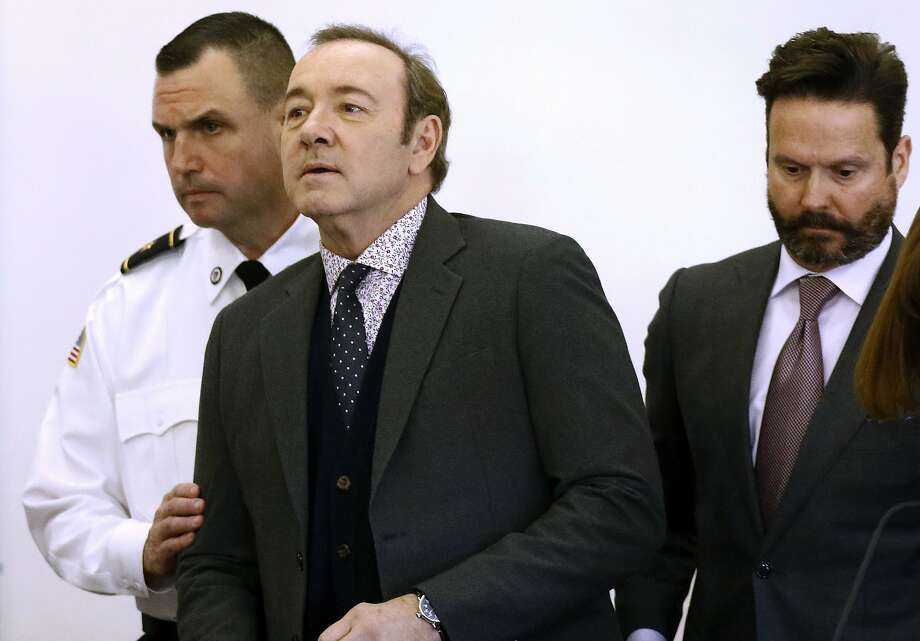 Oscar-winning actor Kevin Spacey enters the courtroom in Nantucket for his arraignment. Photo: Nicole Harnishfeger / Nantucket Inquirer And Mirror