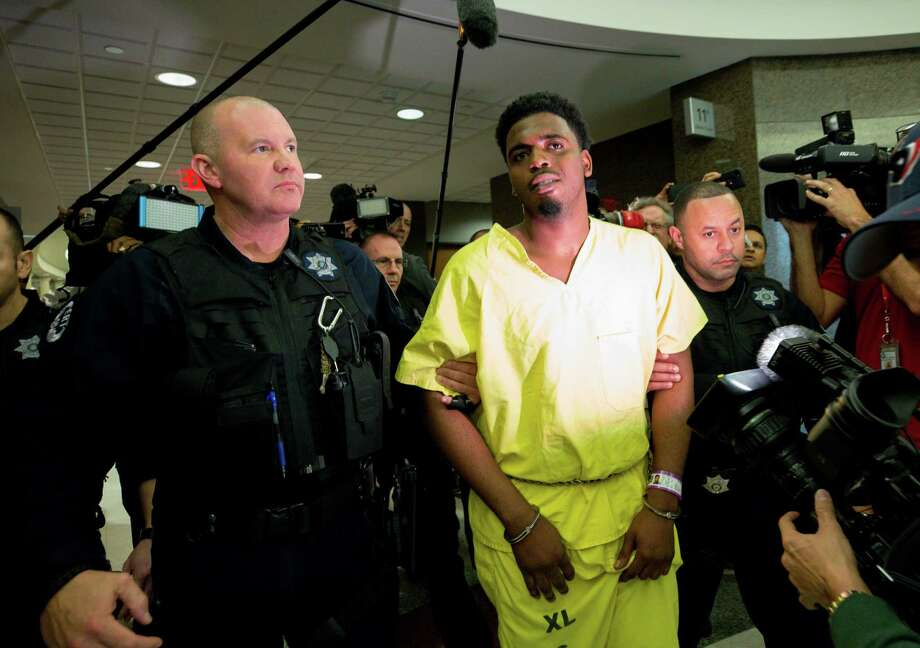 PHOTOS: Suspect apprehended in Jazmine Barnes' slayingEric Black Jr. appears for arraignment at the Harris County Criminal Courthouse Monday, Jan. 7, 2019, in Houston. Black Jr. faces capital murder charges in the drive-by shooting of seven-year-old Jazmine Barnes.>>> See more scenes from this weekend Photo: Godofredo A. Vasquez, Staff Photographer / 2018 Houston Chronicle