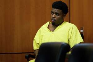 Eric Black Jr. appears for arraignment at the Harris County Criminal Courthouse Monday, Jan. 7, 2019, in Houston. Black Jr. faces capital murder charges in the drive-by shooting of seven-year-old Jazmine Barnes.