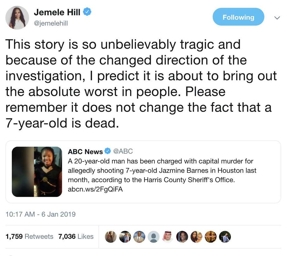 @jemelehill on Twitter: This story is so unbelievably tragic and because of the changed direction of the investigation, I predict it is about to bring out the absolute worst in people. Please remember it does not change the fact that a 7-year-old is dead. Photo: Twitter