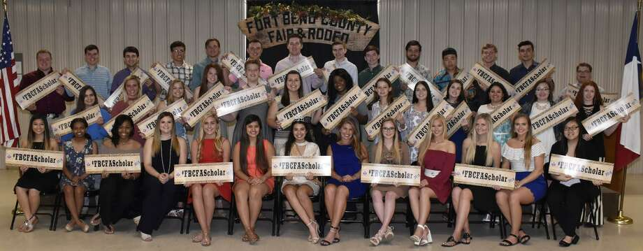 The students above are recipients of 2018 Fort Bend County Fair scholarships. Photo: Fort Bend County Fair / Fort Bend County Fair / Copyright2017 Barbara Magana Robertson
