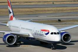 A British Airways Boeing 787 taxis at Bush Intercontinental Airport after arriving from London's Heathrow Airport.