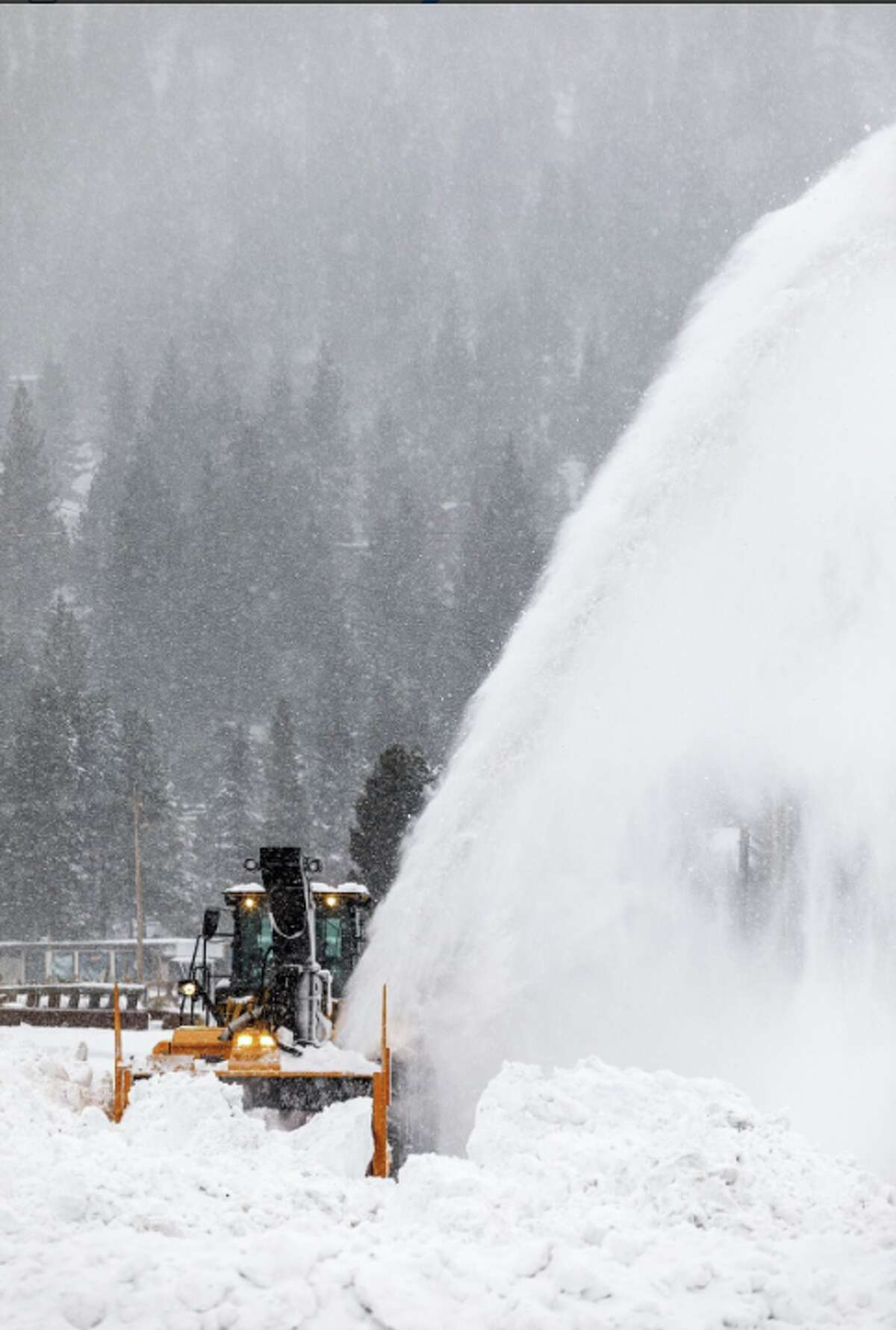 Squaw Valley performs avalanche control and prepares ski slopes on Jan. 7, 2018, after a major snow dump.