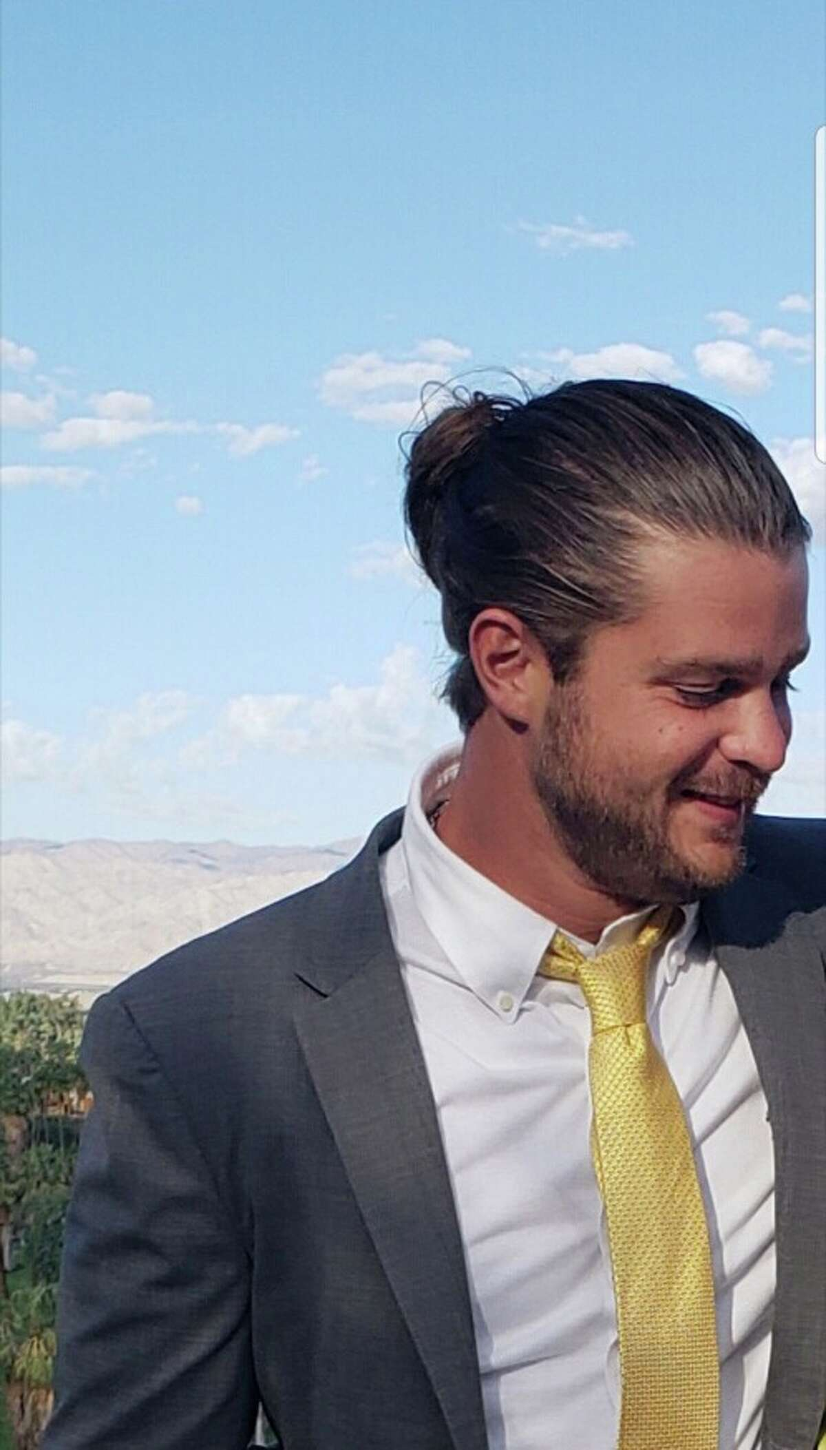 30-year-old Gene DeVito decided on Dec. 17, 2018 to drastically change his hair style. This is what his hair looked like before he went to Salon Shahin in Stamford for a new look.