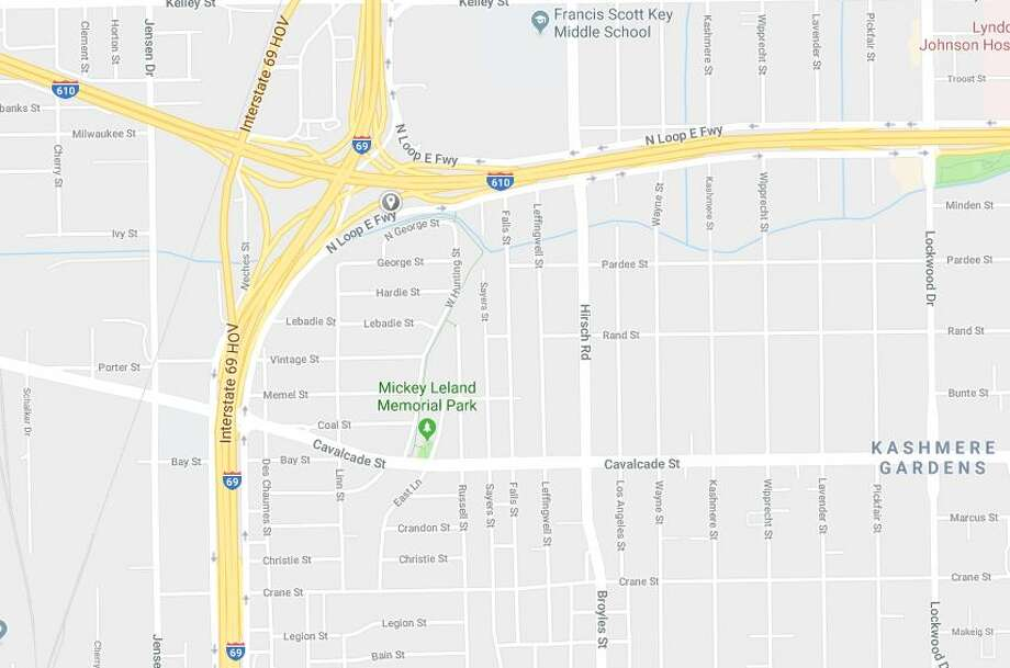 A man riding a motorcycle crashed and died on the Eastex Freeway ramp to the North Loop on Sunday, Jan. 6, 2019. Photo: Google Maps