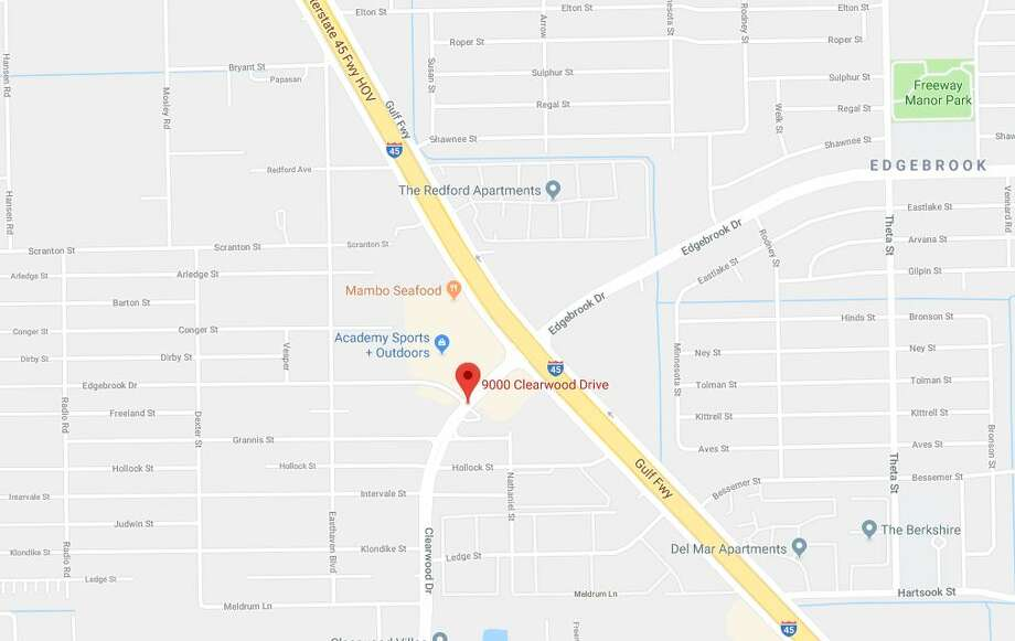 A man died after a crash at 9000 Clearwood on Saturday, Jan. 5, 2019. Photo: Google Maps