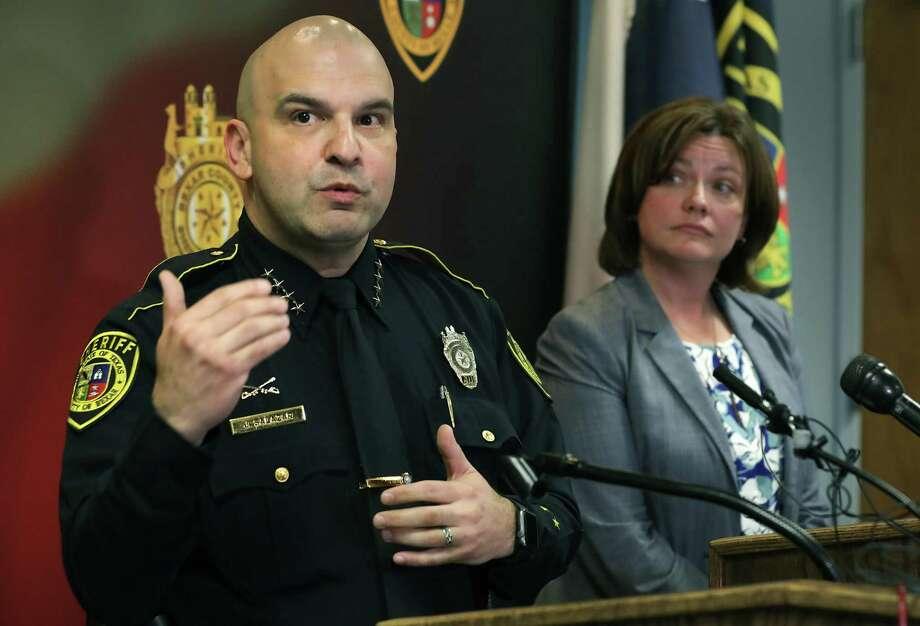 A reader advises Sheriff Javier Salazar after another deputy is arrested. Photo: Bob Owen / Staff Photographer / ©2019 San Antonio Express-News
