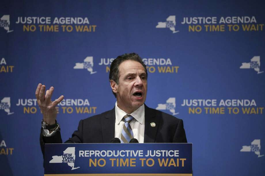 NEW YORK, NY - JANUARY 7: New York Governor Andrew Cuomo speaks about reproductive rights at Barnard College, January 7, 2019 in New York City. Photo: Drew Angerer, Getty / 2019 Getty Images