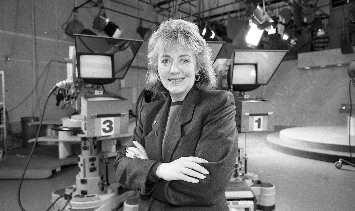 Sylvia Chase, new anchor at KRON-TV, December 16, 1985