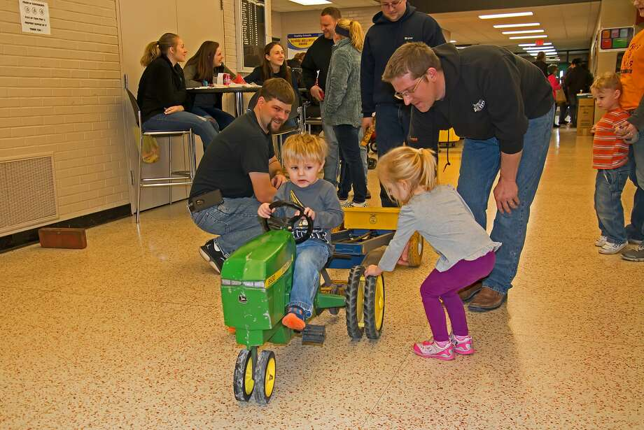 As one of the biggest events at Laker High School, the 28th annual Toy Tractor Show made its return Saturday with hundreds if visitors in attendance to see the displays of farm toys. Hosted by the Laker FFA, all proceeds went toward the Laker FFA Barn Project. Photo: Bill Diller/For The Tribune