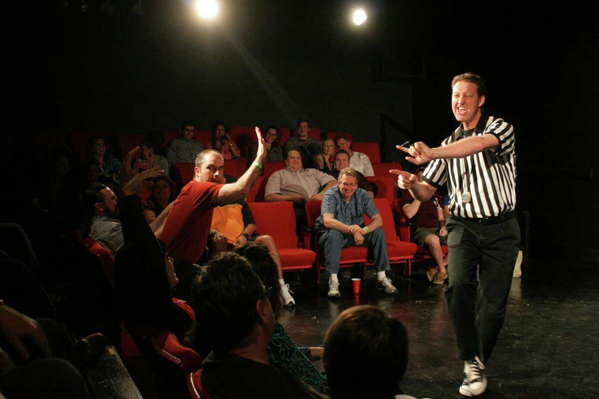 Getting crazy at the Comedy Sportz improv club in Houston