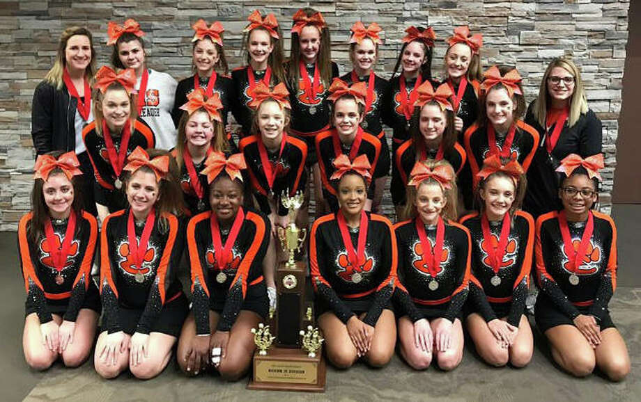 Junior Varsity placed second in the state in the Medium Junior Varsity Division. The Junior Varsity will perform at Southwestern Conference at Alton High School on Saturday, Jan. 19. Photo: Photos For The Intelligencer