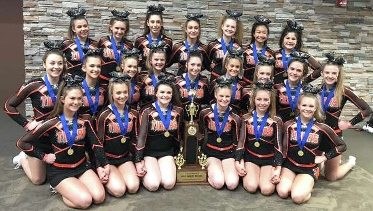 Edwardsville High School Varsity and Junior Varsity Cheerleading competed at the 35th Annual Illinois Cheerleading Coaches Association (ICCA) State Championships this past weekend at the Bank of Springfield Center in Springfield, Illinois. Varsity placed first in the state in the Large Varsity Division. Next up, Varsity will compete at the Illinois High School Association Sectionals, which will be hosted at Edwardsville High School on Saturday, Jan. 26.