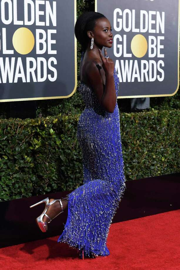 Actress Lupita Nyong'o shows off her Aldo platform sandals on the Golden Globes red carpet on Sunday. Photo: VALERIE MACON, AFP/Getty Images / AFP or licensors