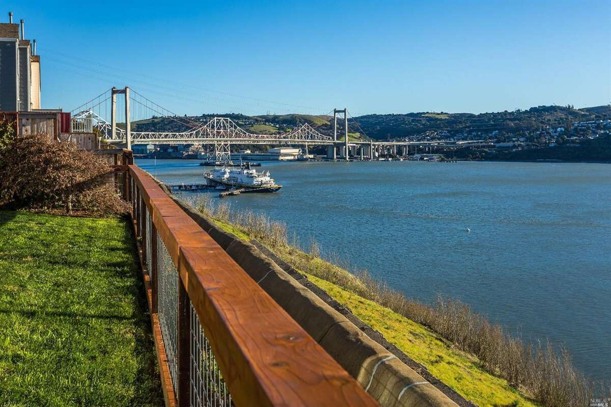 A three-bedroom, three-bathroom waterfront home at 339 Jade Circle in Vallejo, Calif., is listed for $635,000.