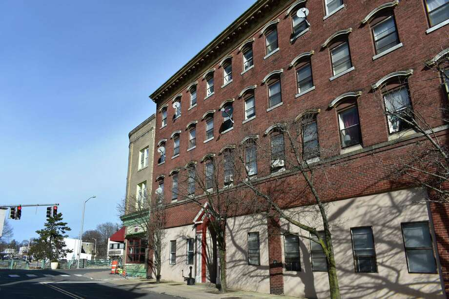 """The Harbor House apartments at 7 Commerce St. in Norwalk, Conn., among the few buildings in the city listing """"micro-units"""" for rent measuring less than 400 square feet of space, as of January 2019. Photo: Alexander Soule / Hearst Connecticut Media / Stamford Advocate"""