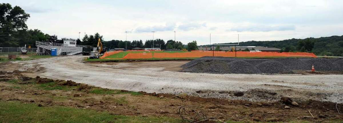 The track at Bethel High School is undergoing renovations.