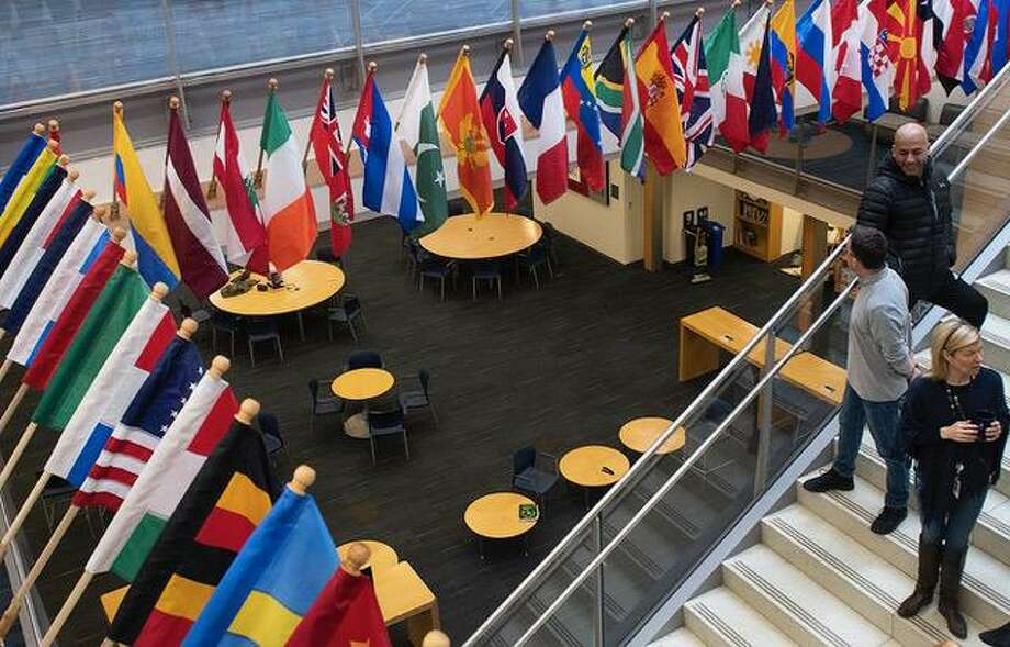 On Jan. 8, 2019, King School in Stamford, Conn. will unveil an installation of flags from 65 countries which represent King faculty, students and families. Photo: Contributed Photo / Contributed Photo / Stamford Advocate contributed