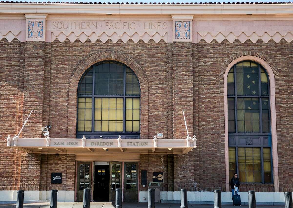 The exterior of the historic San Jose Diridon Train Station in San Jose, Calif. Friday, Jan. 4, 2019.