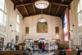 The main lobby of the historic San Jose Diridon Train Station building in San Jose, Calif. Friday, Jan. 4, 2019. As BART prepares to open four new South Bay stations, author Thea Selby argues that delighting riders should be a big part of the equation.