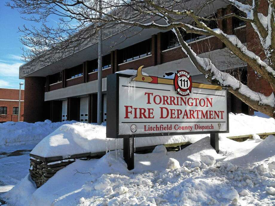 The Torrington Fire Department headquarters on Water Street after a snowstorm in 2017. Photo: / Journal Register Co.