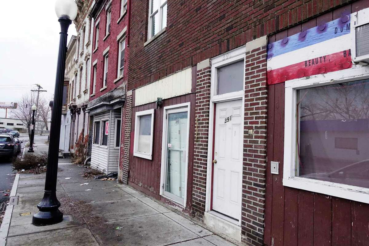 A view of some empty storefronts in the 300 block on South Pearl Street on Monday, Dec. 17, 2018, in Albany, N.Y. (Paul Buckowski/Times Union)