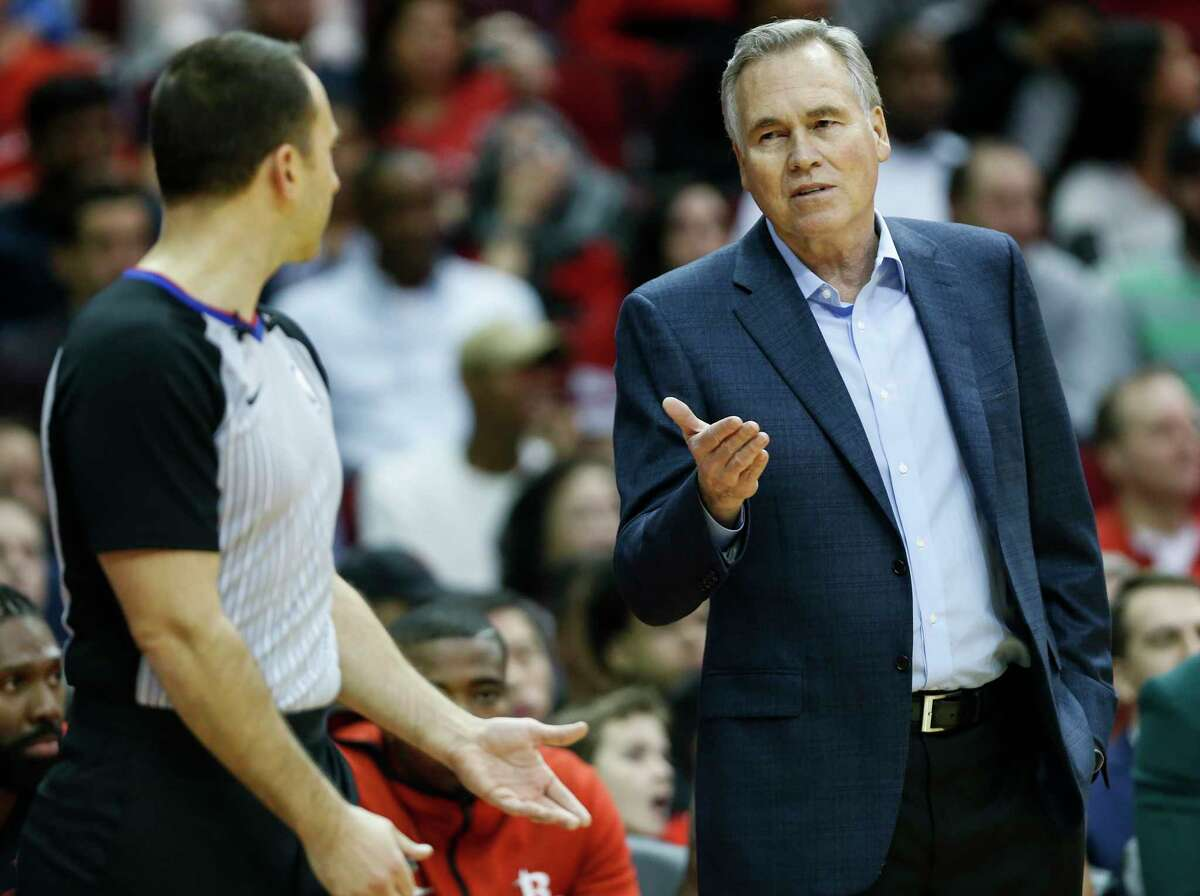 PHOTOS:NBA's best free agents in 2019 offseason Houston Rockets head coach Mike D'Antoni argues a call with referee Kane Fitzgerald during the first half of an NBA basketball game against the Denver Nuggets at Toyota Center on Monday, Jan. 7, 2019, in Houston. >>>See the league's best free agents during the 2019 offseason ...