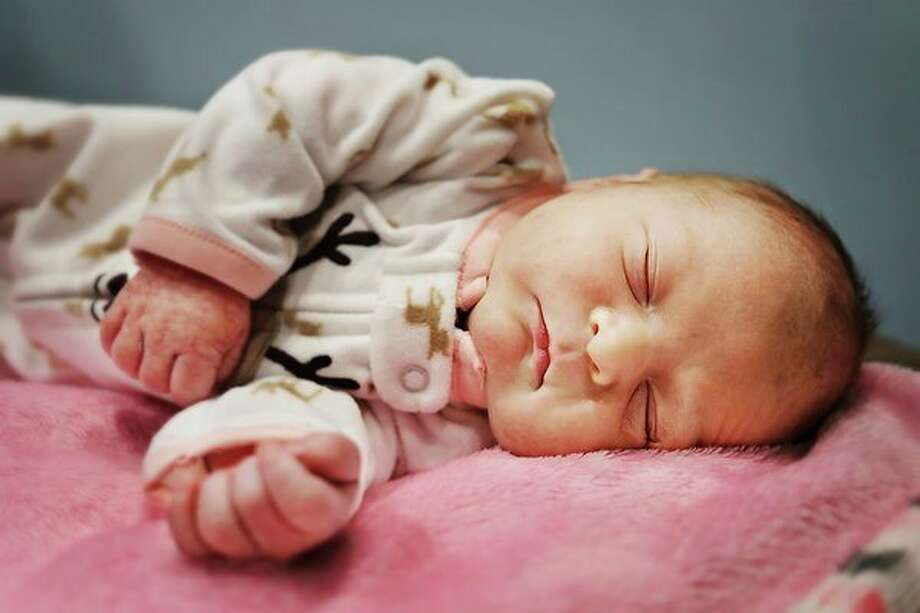 Rylee Shire of Midland was the first baby born at MidMichigan Medical Center-Midland in 2019. She was born Tuesday, Jan. 1 at 3:33 a.m. (Katy Kildee/kkildee@mdn.net)